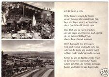 """AK, Albaxen Kr. Höxter, Waldgaststätte """"Rübezahl"""", zwei Abb. und Rübezahl-Lied"""
