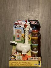 Play-Doh Animal Crew Cluck-a-Dee Feather Chicken Toy W 4 Cans Clay Dough Hasbro