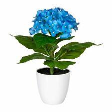 Hortensie Stamm Hortensienbusch Kunstpflanze H 70 cm blau getopft 188360 F56
