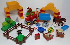 Farm Animals Tractor Lego DUPLO Goat Sheep Fence Horse Crates Squirrel Bunny