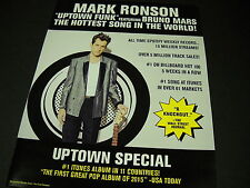 Mark Ronson Hottest Song In World Uptown Funk Promo Display Ad Mint Condition