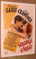 STRANGE CARGO MOVIE POSTER 1940 Reprint 26x38 Inch CLARK GABLE JOAN CRAWFORD