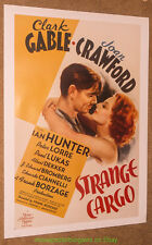 STRANGE CARGO MOVIE POSTER 1940 Reprint 26x38 Inch CLARK GABLE JOAN CRAWFORD