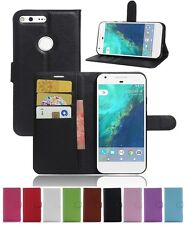 Wallet Leather Flip Card Stand Case Cover For Google Pixel Genuine AuSeller