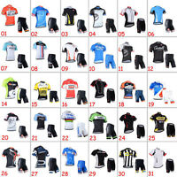 Casual Mens Road Bike Team Clothing Cycling Short Sleeve Jersey Shorts Outfits