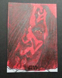 TOPPS STAR WARS 2020 HOLOCRON SERIES DARTH MAUL SKECTH CARD 1/1