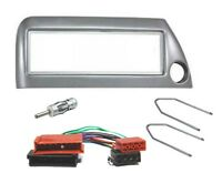 Ford KA RBT Autoradio Einbauset DIN Radioblende Silber ISO Adapterkabel