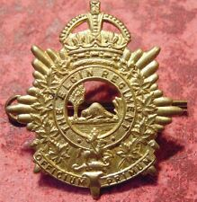 Canada Canadian Armed Forces military ELGIN REGIMENT brass cap badge WW2 KC