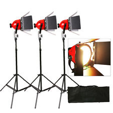 KIT 3X TUNGSTEN 800W REDHEAD RED HEAD VIDEO STUDIO CONTINUOUS LIGHT FOCUS EARTHE