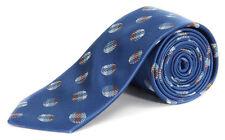 Nick Cannon Men's Plaid Dot Neck Tie Ocean BLUE NWT $65