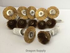 "12pc Combo Set 7/8""Brass Wire Wheel + 3/4"" Cup Brushes Dremel Die Grinder Rotary"