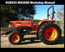 Kubota Mx5000 Workshop Manual - 300pgs for Mx 5000 Tractor Service & Repair