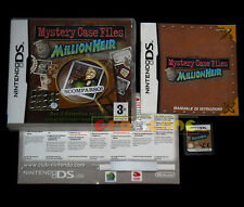 MYSTERY CASE FILES MILLIONHEIR Nintendo Ds Versione Italiana Vip New •• COMPLETO