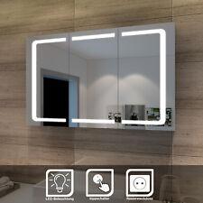 LED Spiegelschrank 3türig  Badezimmerspiegel Badschrank mit Beleuchtung 105 cm