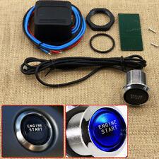 Universal DIY Car Blue LED Engine Start Push Button Switch Ignition Starter Kits