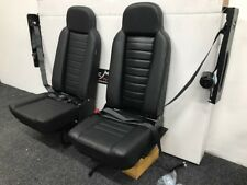 Land Rover Defender Rear Forward Facing Seats in Black Vinyl trim inc Seat belts