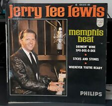 "Jerry Lee Lewis ""Memphis Beat"" EP Philips 434.572 OR.FR. 1966  EX / EX-"