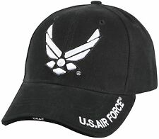 """Black Deluxe """"New Wing Air Force"""" Baseball Cap"""