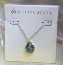 Kendra Scott Kiri Teardrop Necklace In Abalone Shell NWT Box And Dustbag