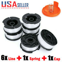 "6-Pack for BLACK+DECKER AF-100-3ZP String Trimmer Line 30ft .065"" Spool"