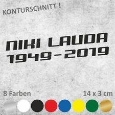NIKI LAUDA 1949-2019 Schriftzug Autoaufkleber Sticker Aufkleber 14 x 3 cm