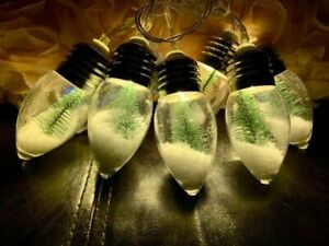 New!!  Battery Operated LED Snow Globe Light Set With Timer!!  Sold Out!!