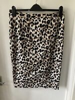 Amphora Size L Uk 14 Leopard Print Wiggle Skirt Pencil 50s Rockabilly Pin Up