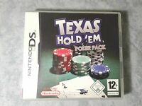 TEXAS HOLD'EM POKER PACK - NINTENDO DS 2DS 3DS PAL ITALIANO COMPLETO COME NUOVO