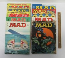 Lot (9) Vintage [1960-1997] MAD Magazine Back Issues #59-360 Satire yz3374
