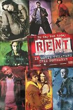 RENT Movie SIGNED Poster By 9 Idina Menzel Chris Columbus Adam Anthony Near Mint