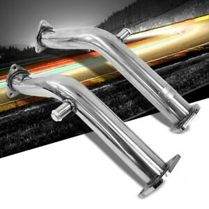 Manzo Stainless Steel Exhaust Downpipe Test Pipe for 03-06 350Z/G35 VQ35DE RWD