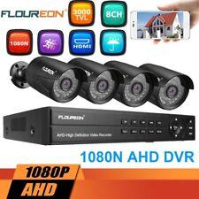 8CH 1080N AHD CCTV DVR 4x Outdoor 3000TVL Waterproof Camera Security System Kit