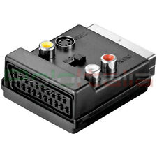 Adattatore SCART maschio/femmina + audio RCA S-VIDEO s-vhs in out presa cavo tv