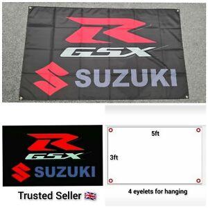Suzuki Motorbike Workshop Garage Banner GSXR Hayabusa 1300R R600 R750 R1000