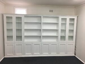"""Concord 2.0"" Integrated Wall Unit Bookshelf Living Room Furniture"
