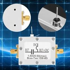 Biaser Bias Tee Polarisation coaxiale à large bande Radio Fréquence 10MHz-6GHz