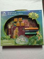 NEW Disney Store Disney Fairies TinkerBell Scrapbook Kit Includes 250 items