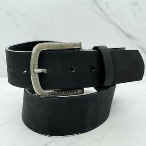 Jack & Jones Black Jacharry Vegan Faux Leather Belt Belt Size 36