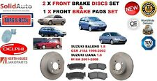 FOR SUZUKI BALENO 1.8 J18A LIANA 1.6 M16A FRONT BRAKE DISCS SET + DISC PADS KIT