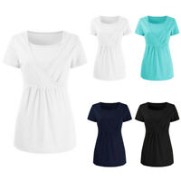 Women's Pregnant Breastfeeding Maternity Clothes Nursing Tops T-Shirt Blouse Tee