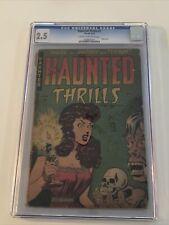 HAUNTED THRILLS #1-1952-FARRELL PUB.-CGC 2.5