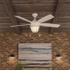 "5-Blade Outdoor/Indoor 52"" Lighthouse Ceiling Fan Patio Beach Caged Globe Light"