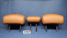 Infiniti FX35 FX45 Headrest Second Row Rear Set Rust Leather 2006-2003 OEM 1597