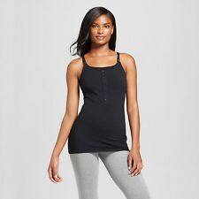 Women's Gilligan & Omalley Night Nursing Cami Tank Size Small Black Gray