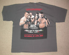 UFC 70 CRO COP V GONZAGA PPV EVENT SHIRT XL EXTRA LARGE . MMA BJJ BOXING KSW GYM