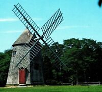 OLDEST Windmill On Cape Cod Eastham Windmill Eastham Mass Vintage Postcard