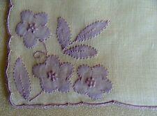 Fab Vtg Marghab Linen Hanky Rare #4315 Pattern Unused Label Gremio Madeira