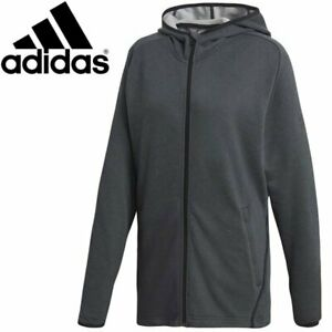Adidas Free Lift Prime Carbon Full Zip Hoodie for Men Sport Casual Climalite New