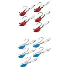 10Pcs Multicolor Fishing Jigs & Red Fish Head Jig Hooks with Spoon Sequins