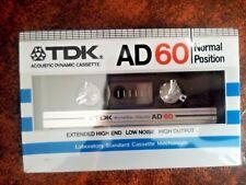Cassette Tape Blank - 1x (ONE) TDK D 60 1982 Made in Japan
